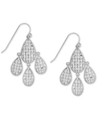Macy's Teardrop Chandelier Earrings In 10K White Gold