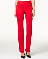 Charter Club Lexington Colored Wash Straight Leg Jeans Only At Macy's New Red Amore