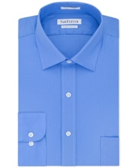 Van Heusen Pincord Solid Dress Shirt French Blue