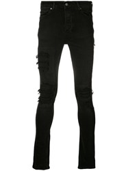 Ksubi Distressed Skinny Jeans Men Cotton 30 Black