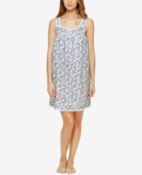 Eileen West Lace Trimmed Printed Nightgown Paisley