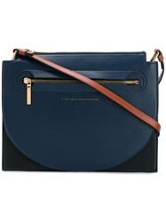 Victoria Beckham Front Zip Crossbody Bag Black
