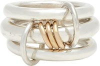 Spinelli Kilcollin Sterling Silver And Rose 'Lynx' Ring Gold