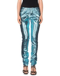 Blumarine Denim Denim Trousers Women Turquoise