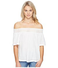 Roxy Hey Tonight Cold Shoulder Top Marshmallow Women's Clothing Blue