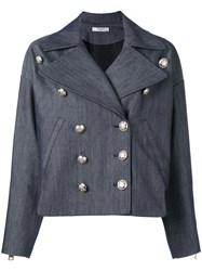 Lanvin Denim Military Jacket Blue