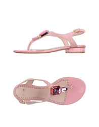 Moschino Cheap And Chic Moschino Cheapandchic Thong Sandals Pink