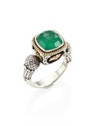 Konstantino Nemesis Jade And 18K Yellow Gold Ring