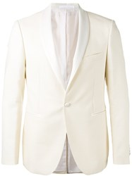Tagliatore One Button Blazer Men Cotton Spandex Elastane Wool 48 White