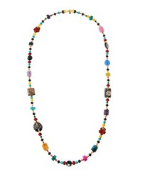 Jose And Maria Barrera Long Beaded Fire Agate Necklace Multi
