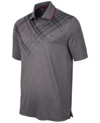 Greg Norman For Tasso Elba Plaid Trimmed Golf Polo Only At Macy's Heather Grey