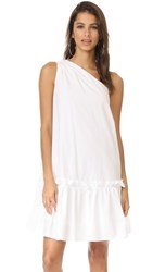 Edit One Shoulder Applique Dress White