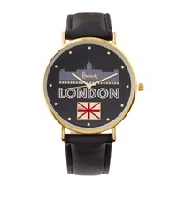 Harrods Glitter London Watch Black