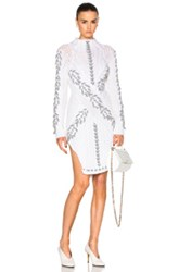Prabal Gurung Cable Knit Turtleneck Sweater In White