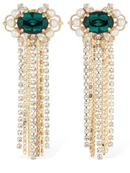 Anton Heunis Omega Clasp Cascade Cluster Earrings Gold