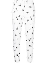 Manning Cartell Spot Embroidered Cropped Trousers White