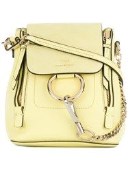 Chloe Mini Faye Backpack Yellow And Orange