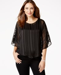 Ny Collection Chiffon Metallic Detail Top