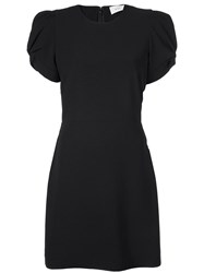 A.L.C. Short Sleeve Fitted Dress Black