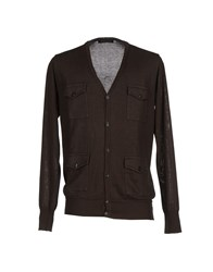 Gold Case By Rocco Fraioli Knitwear Cardigans Men Dark Brown