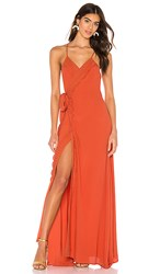The Jetset Diaries Tell Me Baby Maxi Dress In Orange. Dirty Apricot