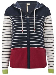 White Stuff Stripe Hoodie Pansy Pure