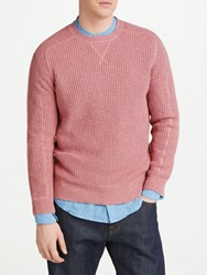 John Lewis And Co. Hessian Cotton Crew Neck Jumper Pink
