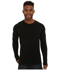 Smartwool Nts Mid 250 Crew Top Black Men's Long Sleeve Pullover