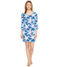 Lilly Pulitzer Beacon Dress Indigo Star Struck Women's Dress Blue