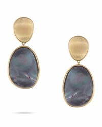 Marco Bicego Lunaria Medium Earrings With Black Mother Of Pearl