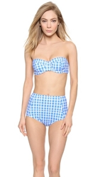 Marc By Marc Jacobs Lucy Underwire Bikini Top Conch Blue Multi