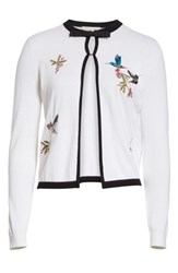 Ted Baker London High Grove Embroidered Cardigan White