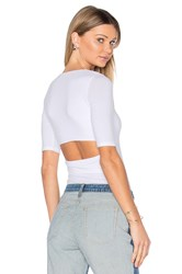 Alexander Wang Short Sleeve Back Slit Tee White