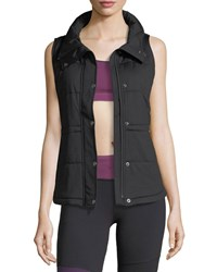 The North Face Pseudio Zip Front Insulated Knit Vest Black