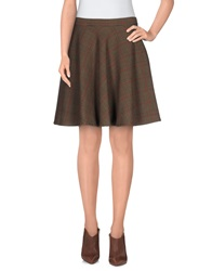Giorgia And Johns Knee Length Skirts Khaki