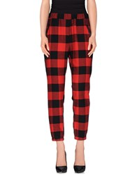 Kontatto Trousers Casual Trousers Women Red