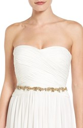 Camilla Christine Women's Beaded Metallic Sash