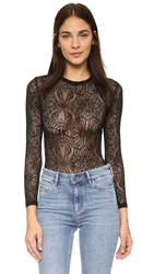 For Love And Lemons Cecile Bodysuit Black