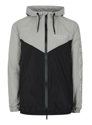 Nicce Grey And Black Chevron Lightweight Jacket
