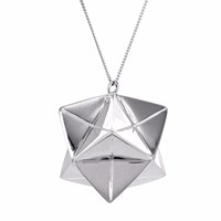 Origami Jewellery Large Magic Ball Necklace Silver
