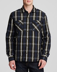 The Men's Store At Bloomingdale's Woven Plaid Shirt Jacket Plaid Black