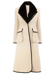 Thom Browne Collar Detail Coat White