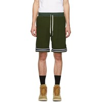 John Elliott Green Corduroy Knit Shorts