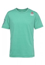 Reebok Crossfit Performance Blend Sports Shirt Neon Pacific Green