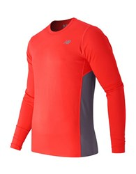 New Balance Accelerate Long Sleeved Performance Top Red
