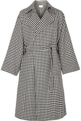 Simon Miller Palmoba Houndstooth Tweed Coat Black