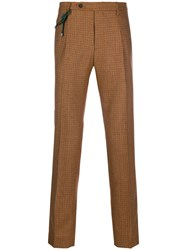 Berwich Cord Detail Checked Trousers Neutrals