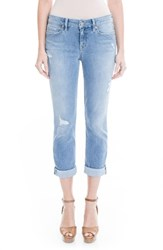 Level 99 Women's Lily Stretch Distressed Crop Cuff Jeans