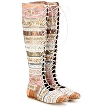 Etro Lace Up Boots Multicoloured