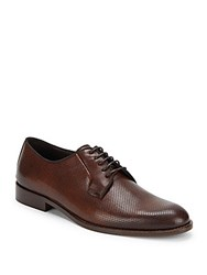 Bruno Magli Antonio Perforated Leather Dress Shoes Dark Brown
